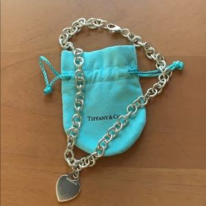 Tiffany & Co sterling silver choker and bag